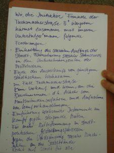 Forderungen_Tuchmachertsraße_29.10.2016